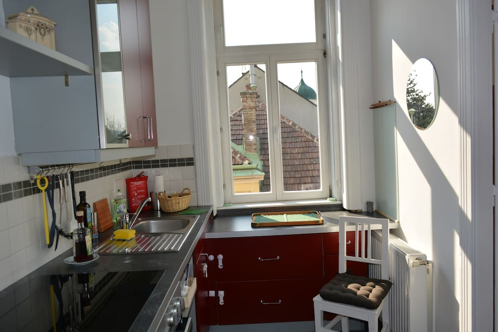 Der Blick aus dem Küchenfenster gibt ein erhabenes Gefühl.