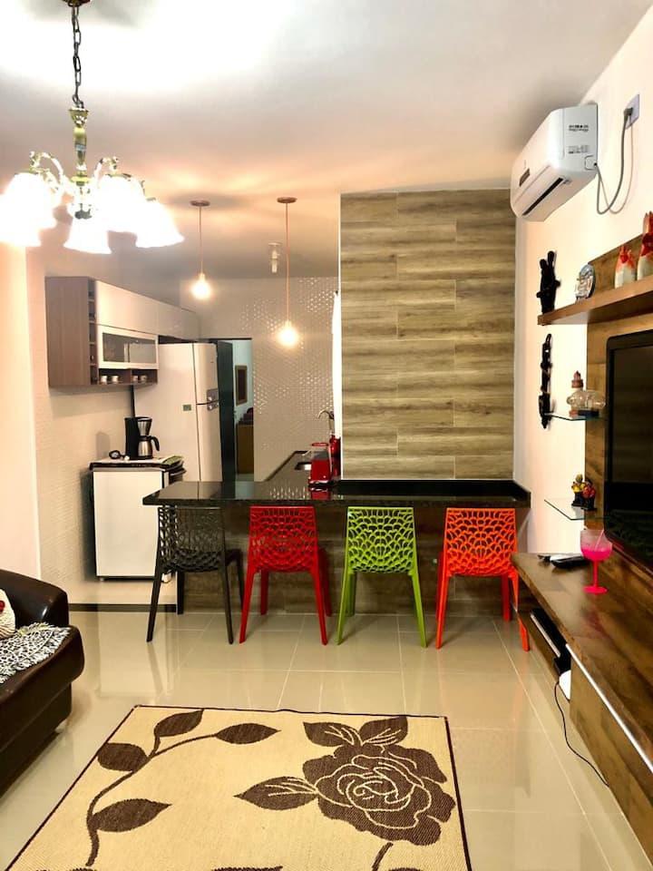Casa Confortável próximo a Praia Perequê-Açú.