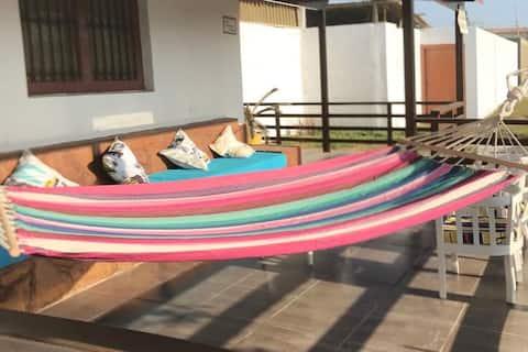 Linda y apacible casa de playa en Colan