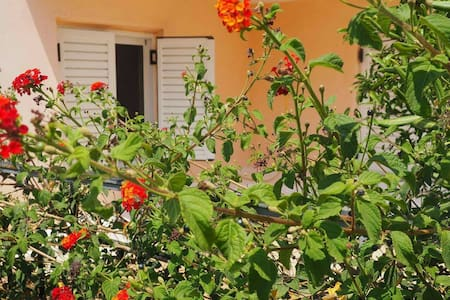 Peaceful apartment with lovely yard full of tees! - Kalamata - Byt