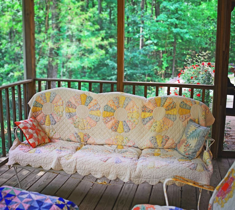 The back screened porch