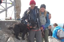 Me, the dog and one of my staff Members at the top peak bagging.