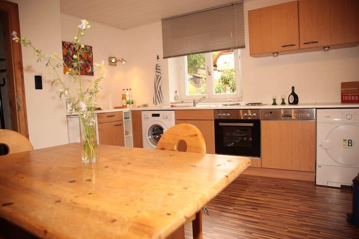 Küche mit Spühlmaschine, Waschmaschine,Trockner