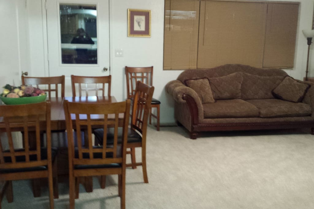 Here is another part of the living room with a guest table.