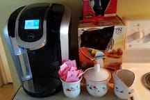 Coffee & tea center.