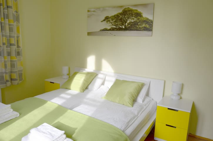Bright room for 2, Guesthouse Soul Ljubljana