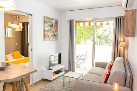 Cannes center, Charming 2p with quiet terrace