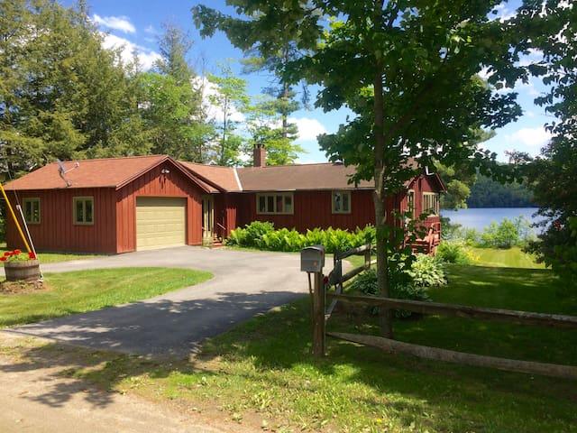 Modern Lake Fairlee Home & Level Lakeside Yard