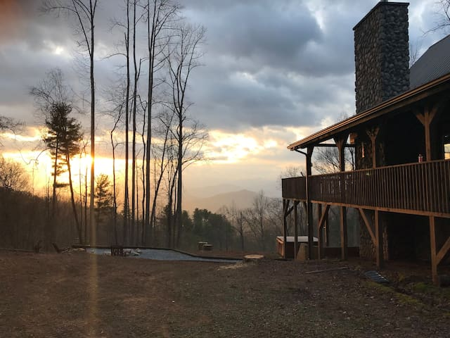 Sunrise from the cabin