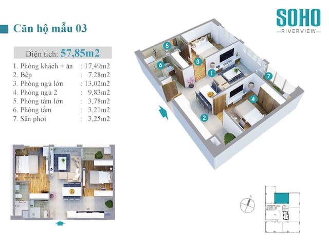Floor plan for the apartment