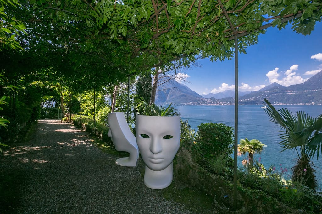 View of Bellagio from villa gardens