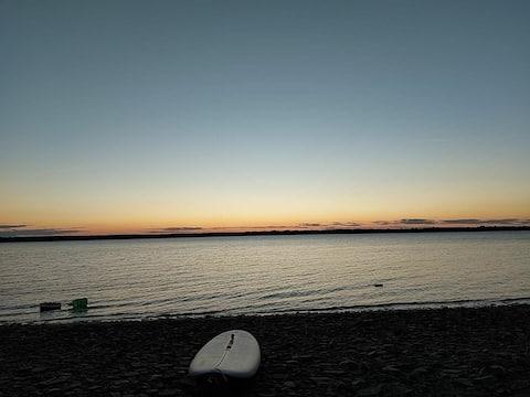 An amazing sunset of Grand lake, NB