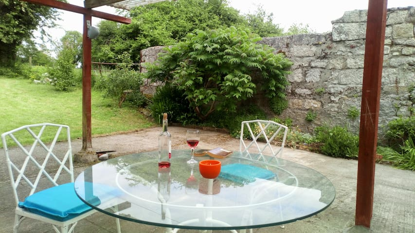 ... or evening relaxation. View of patio looking towards lawn.