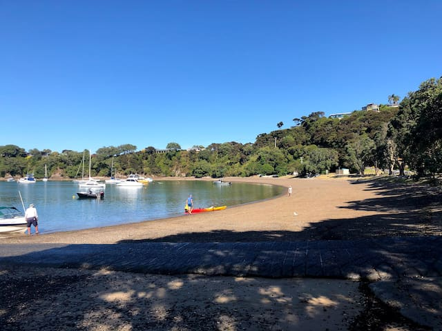 Opito Bay , at the Beach in the Bay of Islands