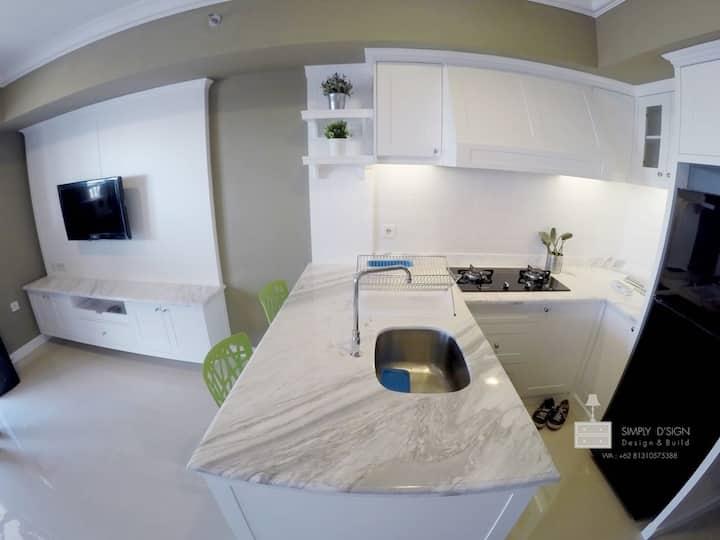One bedroom turned studio with spacious balcony
