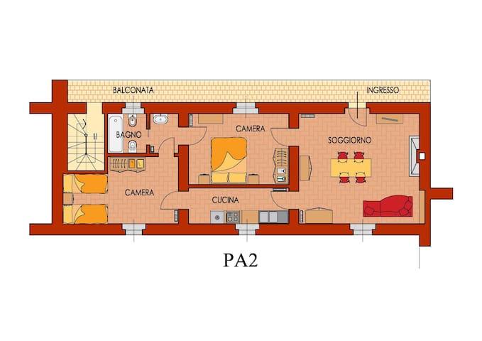 Appartamento 2° piano Palazzo Barbò - Torre Pallavicina - Appartement