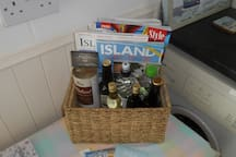 Our welcome pack of local products