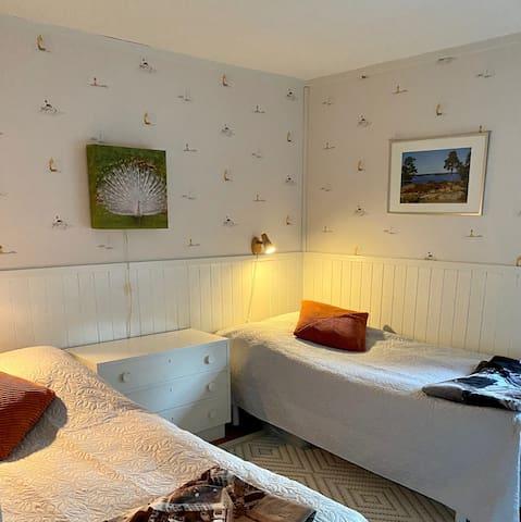House 2: Bedroom 1 (2  single beds 90 cm)