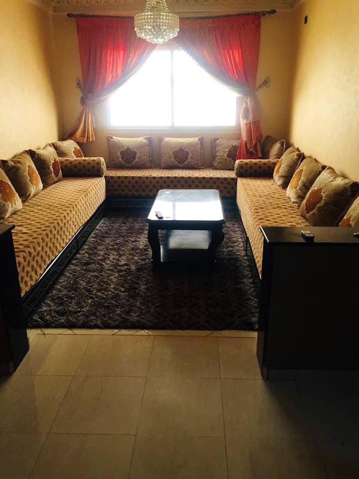 Appartement de 2 chambres à Cité El Houda, Agadir, avec balcon et WiFi - à 7 km de la plage