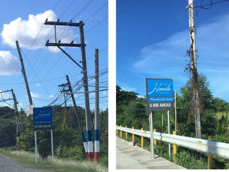 Signages along the way to Pico