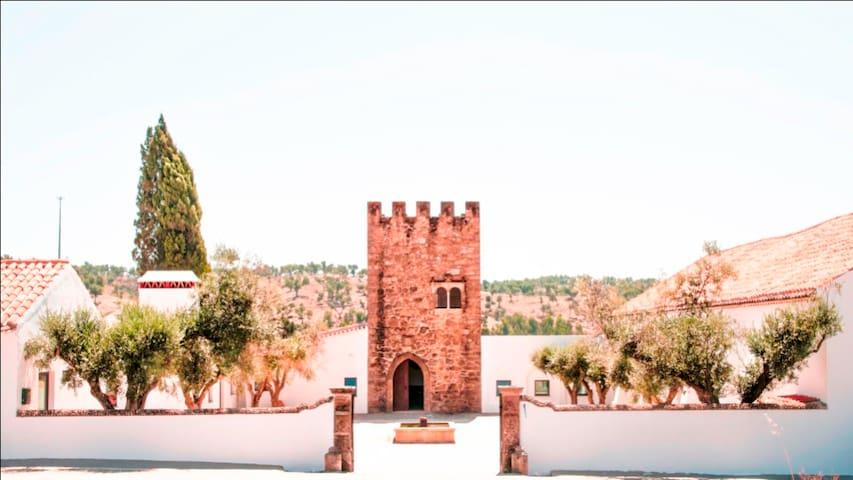 Quarto romântico em Torre no meio da natureza - Gavião - Hrad