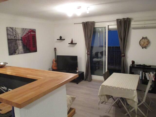 Agréable appartement familial au coeur du village - Argelès-sur-Mer - Apartamento