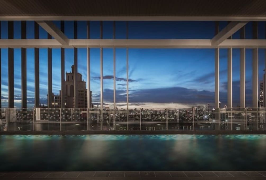 Enjoy and relax in 40 meter cloud pool on 50th floor, rooftop of the building.