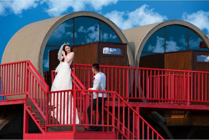 管居,一间位于盘锦的网红民宿。