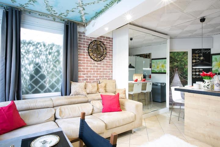CasaTOP,giardino piscina idro veranda,cucina chef