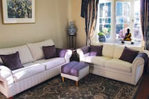 Guests lounge has a sofa bed with a comfortable inner spring mattress that sleeps two.