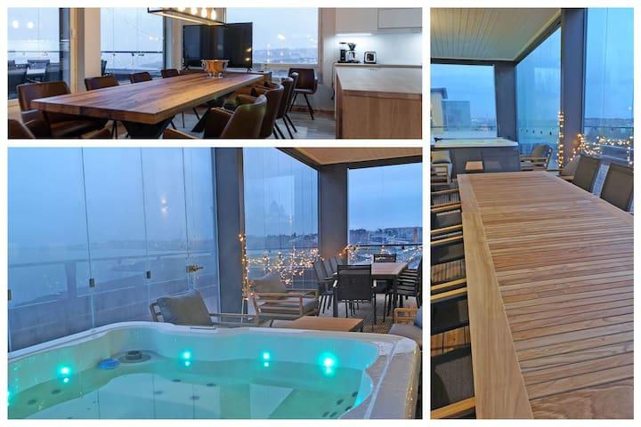 Luxury penthouse, Näsijärvi-lake and jacuzzi!