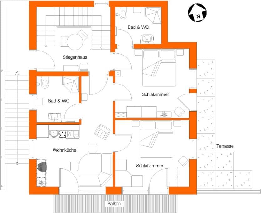 Grundriss Appartements