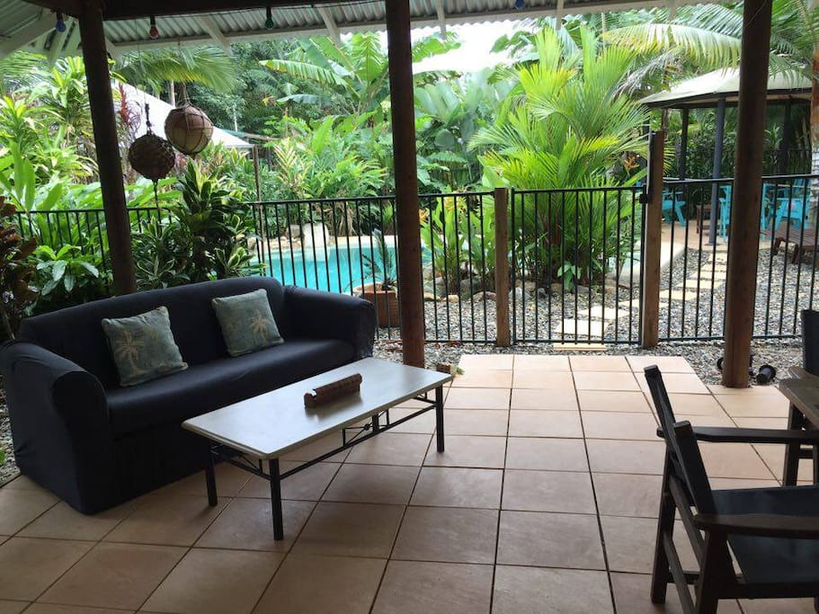 Roomy cool verandah to enjoy a BBQ or just relax and enjoy the gardens