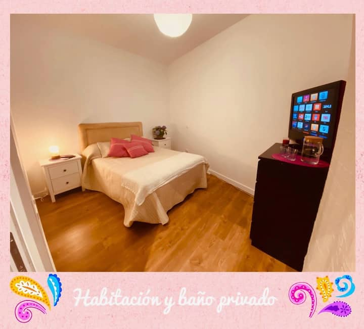 PRIVATE ROOM AND BATHROOM NEAR MADRID CENTER