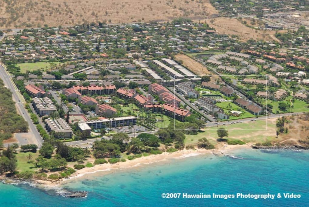 See inset for proximity to Kamaole Beach III