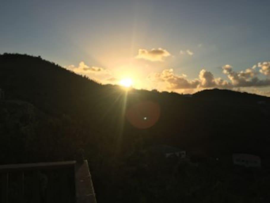 wake up to the morning sunrise