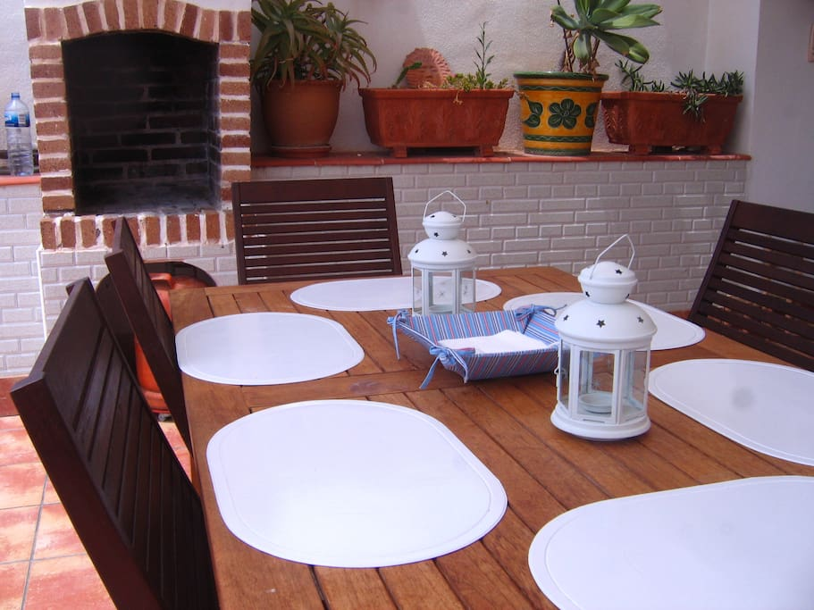 Big terrace dining table
