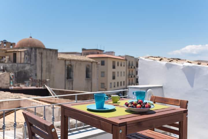Ortigia: casa domotica con terrazza panoramica