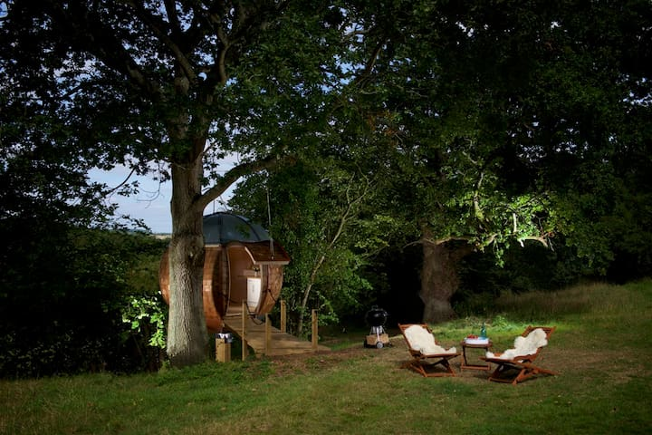 Floating Tree Sphere for two people with views - Sturminster Marshall - Casa na árvore