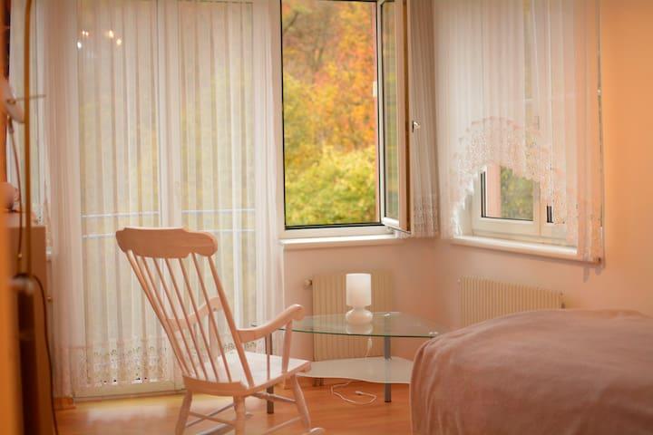 Ruhige Wohnung direkt neben dem Wald und Fluss