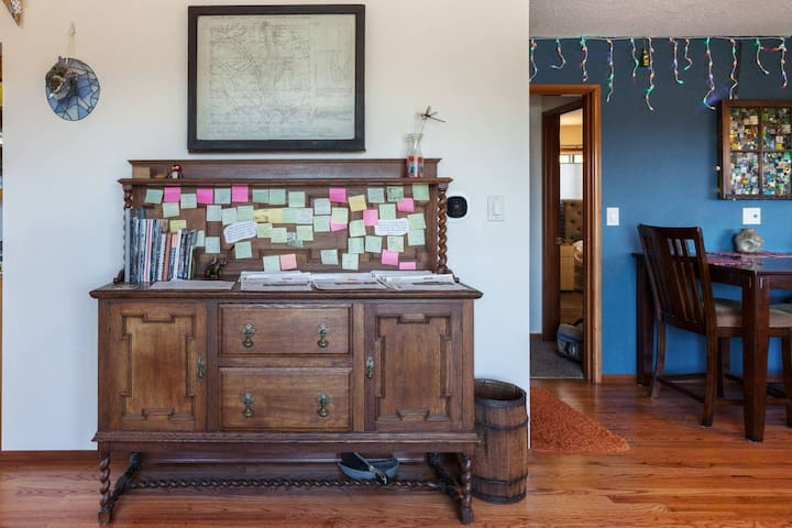 I know... It looks kind of cluttered, but most guests stop by here at least once a day, poking through all the ideas for things to do. We want to make sure you to get the most out of EVERY moment you are in Portland!