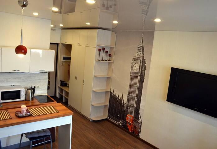 Уютные апартаменты с кондиционером, рядом с метро