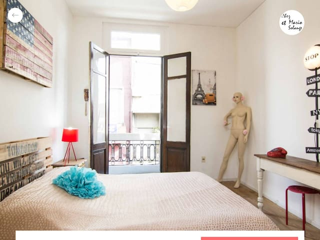 Habitación privada con balcón - Montevideo - Bed & Breakfast