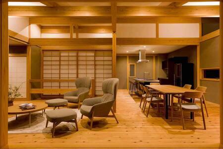 ゆったりと過ごせる 木のぬくもりの別荘 Japanese cedar wood  Villa