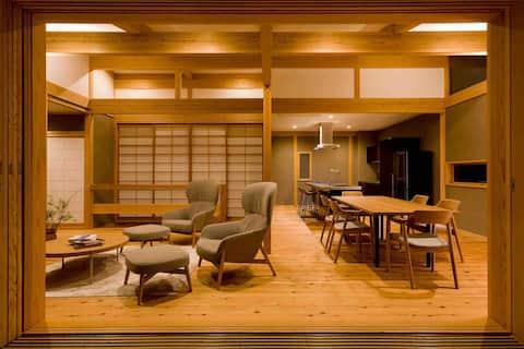 Vila de madeira inteira para relaxar a Vila de madeira de cedro japonesa