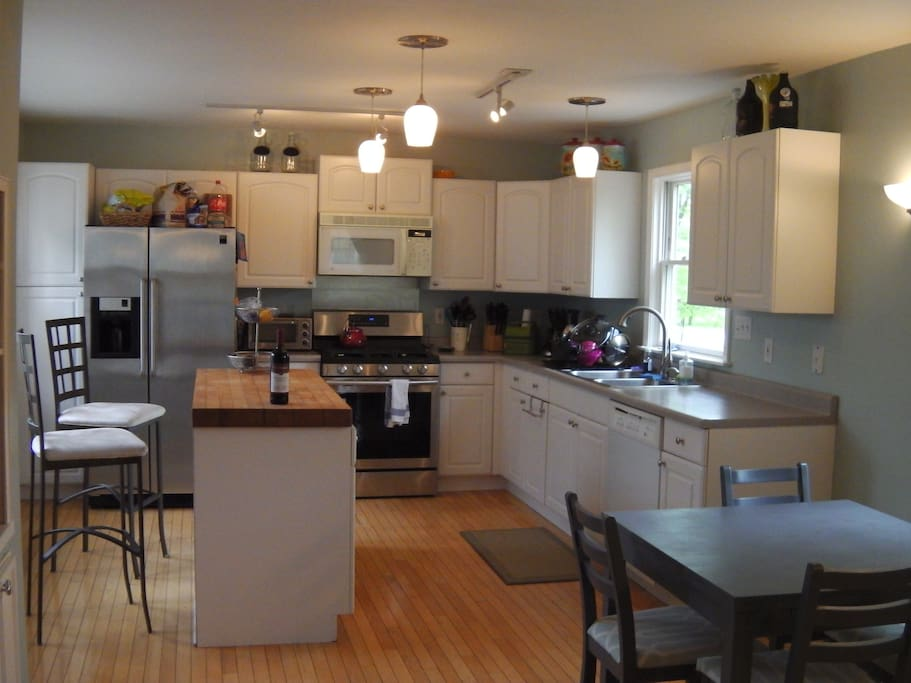 Huge open, updated kitchen. Great for entertaining.