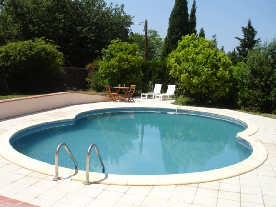 Private garden and swimming pool (9m x 6m)