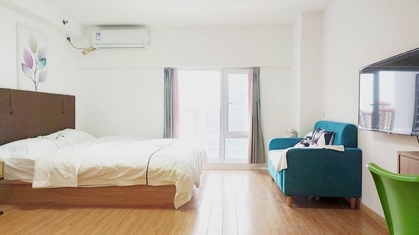 【宿美】高新区万科广场|新郑大|温馨大床