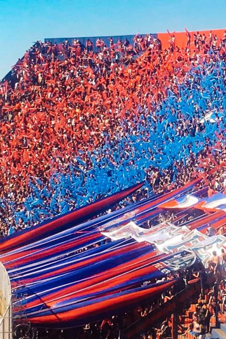 San Lorenzo fans at Pedro Bidegain Stadoum