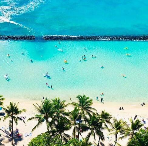 Waikiki - Honolulu . Quando aterrisar no Sul da ilha é essa vista que você terá!